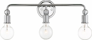 Nuvo 60-6563 Bounce Polished Nickel 3-Light Bathroom Vanity Lighting