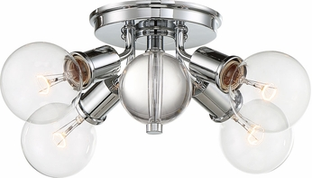 Nuvo 60-6564 Bounce Polished Nickel Flush Ceiling Light Fixture