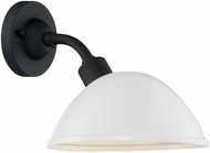 Nuvo 60-6903 South Street Gloss White and Textured Black Outdoor 10  Wall Lighting Sconce