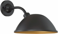 Nuvo 60-6905 South Street Dark Bronze and Gold Outdoor 12  Wall Mounted Lamp