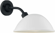 Nuvo 60-6906 South Street Gloss White and Textured Black Exterior 12  Wall Light Sconce