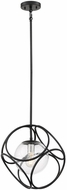 Nuvo 60-6935 Aurora Contemporary Black and Polished Nickel 14  Hanging Pendant Light