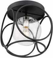 Nuvo 60-6936 Aurora Modern Black and Polished Nickel Ceiling Lighting