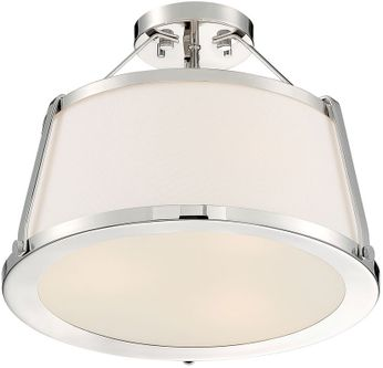 Nuvo 60-6996 Cutty Modern Polished Nickel Ceiling Light Fixture