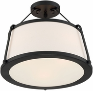 Nuvo 60-6998 Cutty Contemporary Matte Black Ceiling Light Fixture