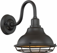 Nuvo 60-7011 Newbridge Dark Bronze and Gold Exterior 10  Wall Sconce Light