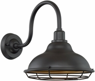 Nuvo 60-7012 Newbridge Dark Bronze and Gold Outdoor 12  Wall Sconce