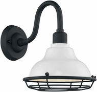 Nuvo 60-7021 Newbridge Gloss White and Textured Black Exterior 10  Wall Lamp