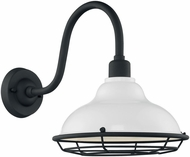Nuvo 60-7022 Newbridge Gloss White and Textured Black Outdoor 12  Wall Lighting