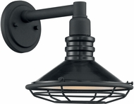 Nuvo 60-7031 Blue Harbor Gloss Black and Silver Exterior 10  Sconce Lighting