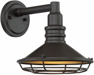 Nuvo 60-7041 Blue Harbor Dark Bronze and Gold Exterior 10  Lighting Sconce