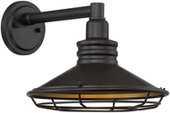 Nuvo 60-7042 Blue Harbor Dark Bronze and Gold Outdoor 12  Lamp Sconce