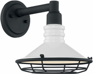 Nuvo 60-7051 Blue Harbor Gloss White and Textured Black Exterior 10  Wall Sconce Lighting