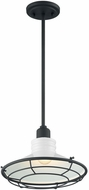 Nuvo 60-7054 Blue Harbor Gloss White and Black Mini 12  Lighting Pendant