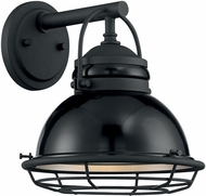 Nuvo 60-7061 Upton Gloss Black and Silver Exterior 10  Lighting Wall Sconce