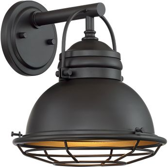 Nuvo 60-7071 Upton Dark Bronze and Gold Exterior 10  Wall Sconce Lighting