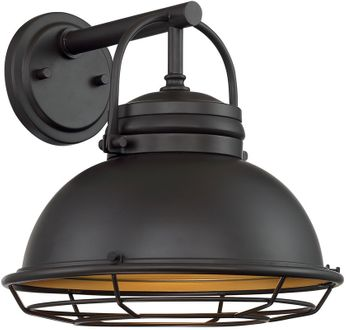 Nuvo 60-7072 Upton Dark Bronze and Gold Outdoor 12 Wall Mounted Lamp
