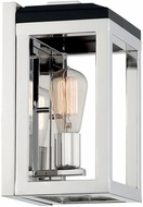Nuvo 60-7091 Cakewalk Modern Polished Nickel and Black Wall Light Sconce
