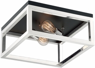 Nuvo 60-7095 Cakewalk Modern Polished Nickel Flush Lighting