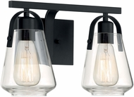 Nuvo 60-7102 Skybridge Matte Black 2-Light Bathroom Lighting