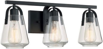 Nuvo 60-7103 Skybridge Matte Black 3-Light Lighting For Bathroom