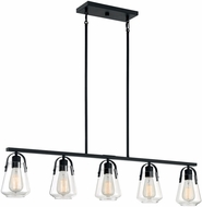 Nuvo 60-7104 Skybridge Matte Black Island Lighting