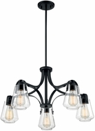 Nuvo 60-7105 Skybridge Matte Black Chandelier Light