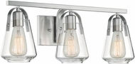 Nuvo 60-7113 Skybridge Brushed Nickel 3-Light Bathroom Light