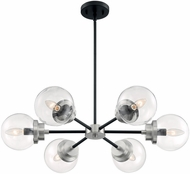 Nuvo 60-7136 Axis Contemporary Matte Black and Brushed Nickel Chandelier Lamp