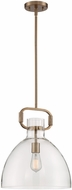 Nuvo 60-7142 Teresa Contemporary Burnished Brass Drop Lighting Fixture