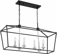 Nuvo 60-7146 Storyteller Matte Black and Polished Nickel Kitchen Island Light