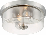 Nuvo 60-7168 Sommerset Modern Brushed Nickel 13  Flush Mount Lighting