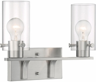 Nuvo 60-7172 Sommerset Contemporary Brushed Nickel 2-Light Bathroom Lighting Fixture