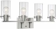 Nuvo 60-7174 Sommerset Contemporary Brushed Nickel 4-Light Vanity Lighting