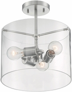 Nuvo 60-7178 Sommerset Modern Brushed Nickel Flush Mount Light Fixture