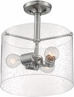 Nuvo 60-7188 Bransel Modern Brushed Nickel Flush Mount Lighting Fixture