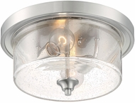 Nuvo 60-7190 Bransel Modern Brushed Nickel 13  Flush Ceiling Light Fixture