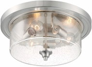 Nuvo 60-7191 Bransel Modern Brushed Nickel 15  Flush Mount Ceiling Light Fixture