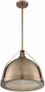 Nuvo 60-7203 Barbett Modern Burnished Brass Hanging Pendant Light