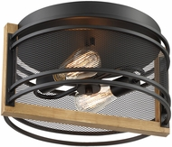 Nuvo 60-7263 Atelier Rustic Black and Honey Wood Home Ceiling Lighting