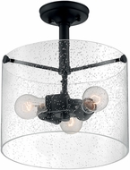 Nuvo 60-7288 Bransel Contemporary Matte Black Ceiling Light