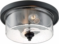 Nuvo 60-7290 Bransel Contemporary Matte Black 13  Ceiling Light Fixture