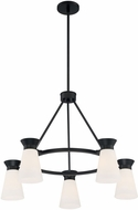 Nuvo 60-7315 Caleta Modern Black Chandelier Light