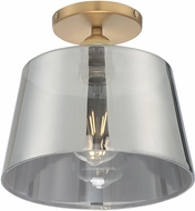 Nuvo 60-7324 Motif Contemporary Brushed Brass and Smoked Glass 10  Flush Lighting