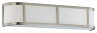 Nuvo 603803 Odeon ES 3-Lamp Wall Sconce in Brushed Nickel