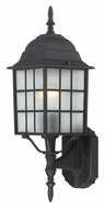 Nuvo 604903 Adams Lower Mounting Traditional Textured Black Exterior Sconce