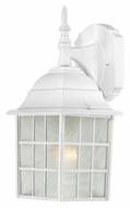 Nuvo 604904 Adams Upper Mounting White Finish Outdoor Lighting Sconce - 13 Inches Tall