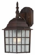Nuvo 604905 Adams Upper Mounting 13 Inch Tall Rustic Bronze Traditional Outdoor Sconce