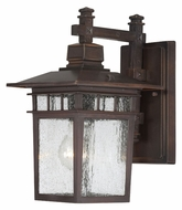 Nuvo 604952 Cove Neck Rustic Bronze Finish 11 Inch Tall Outdoor Wall Light - Seeded Glass