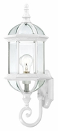 Nuvo 604971 Boxwood Lower Mounting White 22 Inch Tall Outdoor Light Sconce